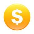 Bouton internet argent finance icon orange sign