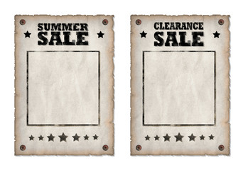 Poster Vintage Style Sale