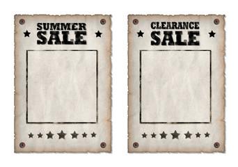 Poster Vintage Style Sale