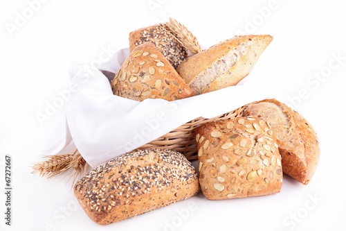 canvas print picture assortment of bread