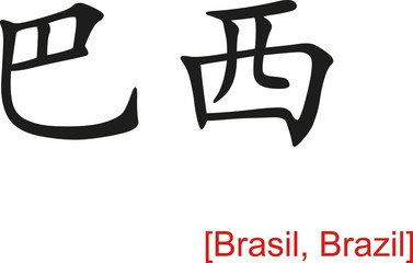 Chinese Sign for Brasil, Brazil