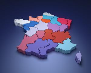 France - nouvelle carte des régions
