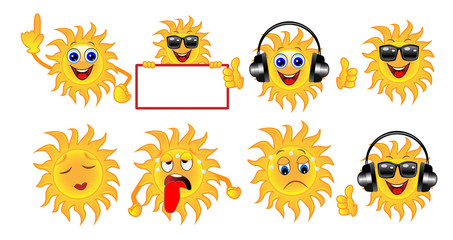 set a sun of different emotion