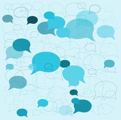 background speech bubbles