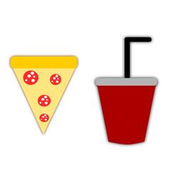 Pizza e bibita