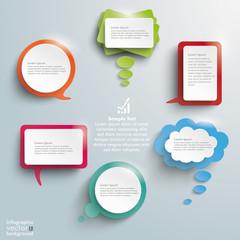Colored Shiny Communication Bubbles