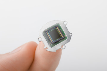 Small digital camera sensor on finger