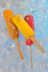 Fruit ice cream pops