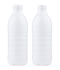 Plastic 1 liter bottle closed and open