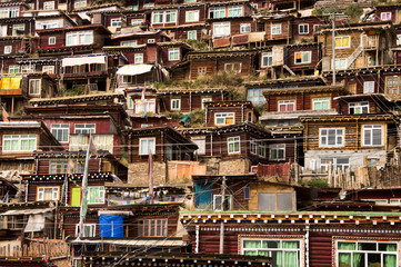 Houses of Tibetan monks