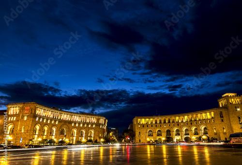 Republic Square at night in Yerevan, Armenia - 67276254