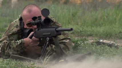 Sniper Shoots at a Target