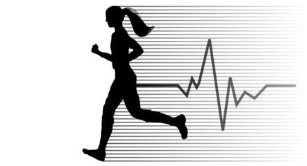 Joggerin schwarz EKG