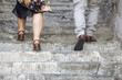 Climbing on stone stairs - 67276851