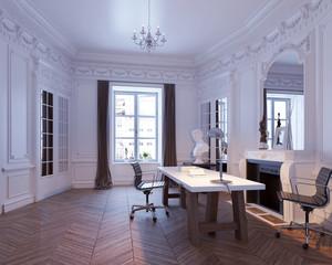 Schreibtisch in Altbauwohnung