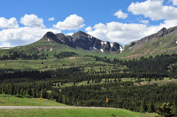 The San Juan Mountains in Colorado, United State's in July.