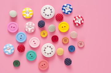 ボタン 雑貨 カラフル 背景素材