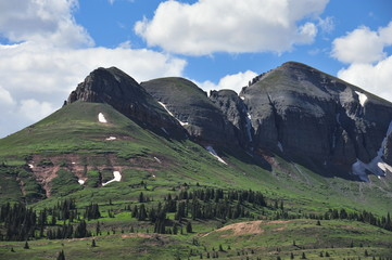 The San Juan Mountains in Colorado,  America in July 2014
