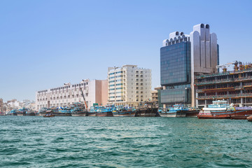 Port Saeed along Deira shore of Dubai Creek