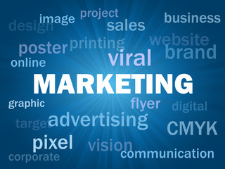 """MARKETING"" Tag Cloud (online viral internet advertising e-mail)"