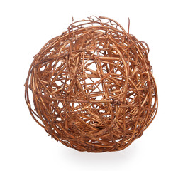 decorative wicker ball