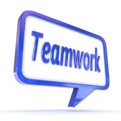 "Speech Bubble showing ""Teamwork"""