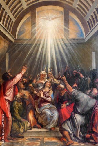 Aluminium Venice Venice - Descent of the Holy Ghost by Titian