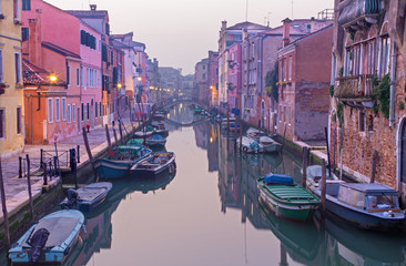 Venice - Venice - Fondamenta de la Sensa in morning dusk