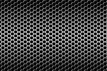 背景素材壁紙(パンチングメタル, 六角, 網目, 格子, 金属)