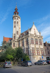 Brugge - The Burghers lodge building in morning light