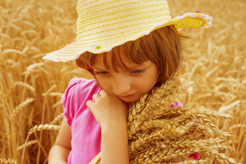 little girl and the wheat field