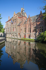 Bruges - Look from Dijver street to canal