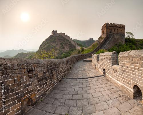 Foto op Canvas Chinese Muur Chinesische Mauer