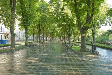 Primorskiy Boulevard in Odessa, Ukraine.