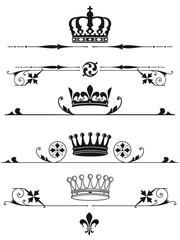 fürstliche Kronen und Zeichen