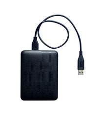 isolated external hard drive storage