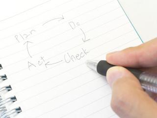 手帳に書いたPDCAサイクルのイメージ