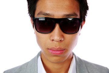 Handsome asian man isolated