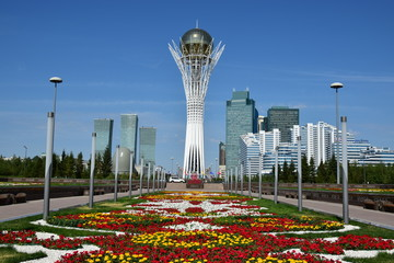 The BAITEREK tower in Astana / Kazakhstan