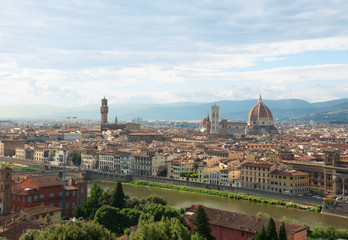 Florence skyline with Cathedral Santa Maria del Fiore. Italy,