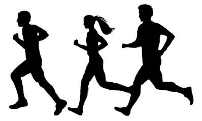 Gruppe Läufer