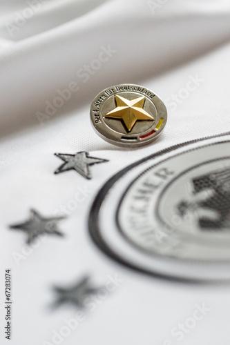canvas print picture Der vierte Stern für Deutschland