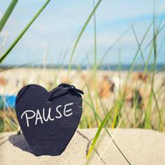Pause, Auszeit am Strand