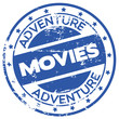 adventure movies stamp