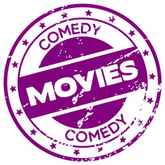 comedy movie stamp