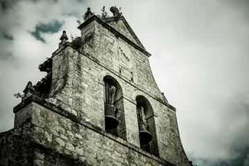 Dramatic Ancient Church Belfry