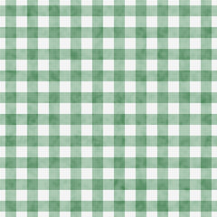 Pale Green Gingham Pattern Repeat Background