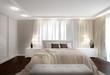нейтральный интерьер спальни