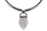 Detail of a silver statement necklace - 67283859