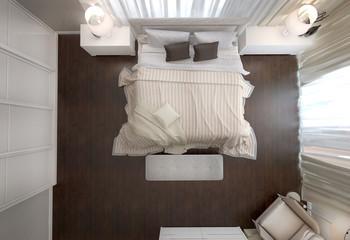 спальня вид сверху